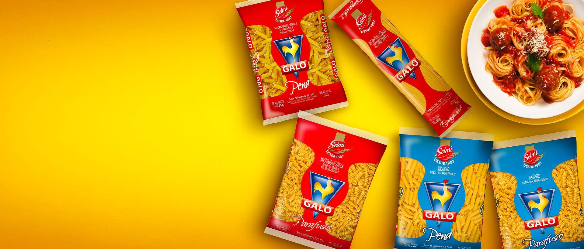 Banner Galo, the pasta of Brazil